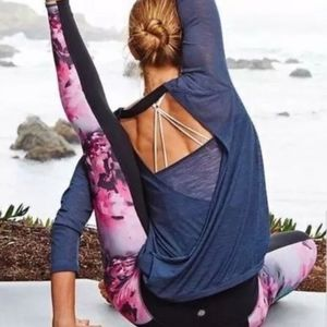 ATHLETA chaturanga high rise tights, bloom floral